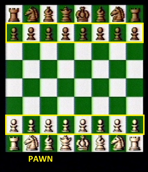 Beginning pawn positions
